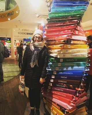 We made a visit to the Ritter Sport store - chocolate galore!