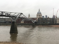 Millennium Bridge with St. Paul's Cathedral in the distance