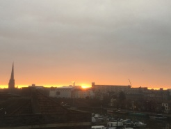A nice sunrise from our room in Bristol