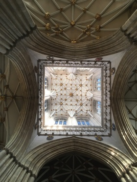 Part of the ceiling in York Minster