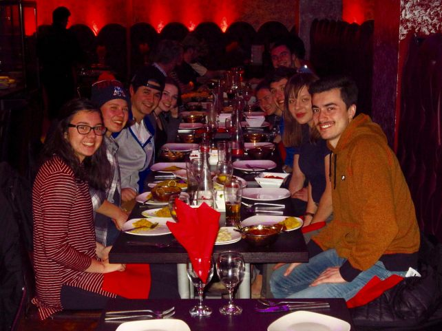 Group dinner on our last night in Manchester (Photo: Soeren Steding)